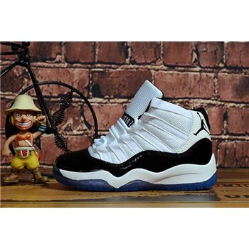 "Kid's Air Jordan 11 ""Concord"" White/Black-Dark Concord"