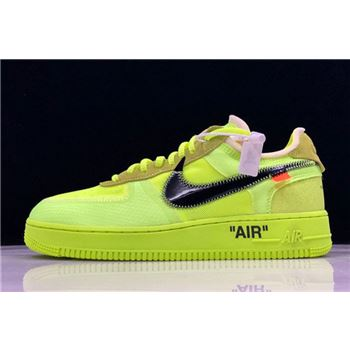 "2018 Off-White x Nike Air Force 1 AF1 Low ""Volt"" AO4606-700"
