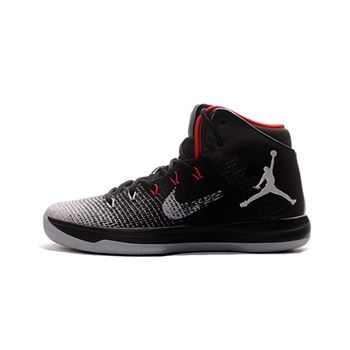 Air Jordan XXX1 Black/Wolf Grey-Red