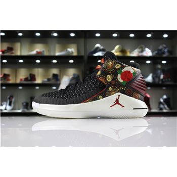 "2018 Air Jordan XXX2 ""CNY"" Black/University Red/White-Metallic Gold AJ6333-042"