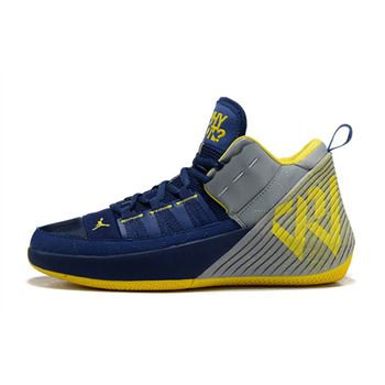 "Jordan Why Not Zer0.1 Chaos ""Michigan"" College Navy/Amarillo-White"