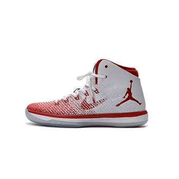 Air Jordan XXX1 White/University Red Men's Basketball Shoes