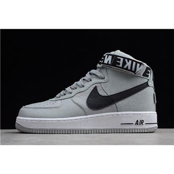 "NBA x Nike Air Force 1 High ""Statement Game"" Flight Silver/Black-White 315121-044"