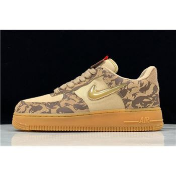 "Nike Air Force 1 Jewel ""Country Camo"" Hemp/Military Brown-Team Orange AV2585-200"
