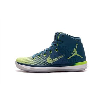 "Air Jordan XXX1 ""Rio"" Green Abyss/Ghost Green-White 845037-325"