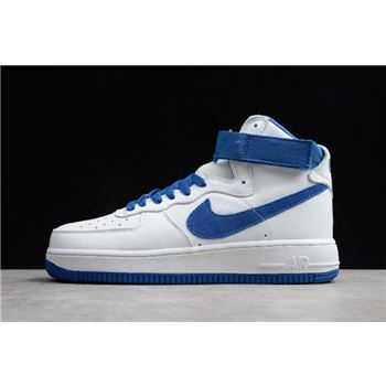 Nike Air Force 1 High Retro QS Summit White/Game Royal 743546-103