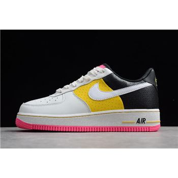 "WMNS Nike Air Force 1 '07 SE ""Moto"" White/Yellow-Black AT2583-100"