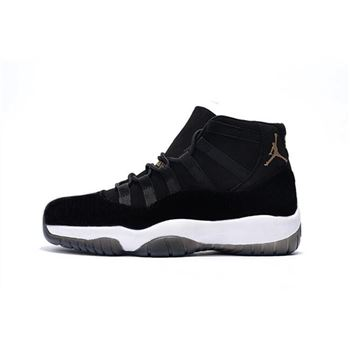 2018 Men's Air Jordan 11 Black Velvet Basketball Shoes For Sale