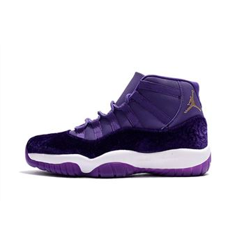 2018 Men's Air Jordan 11 Purple Velvet Basketball Shoes