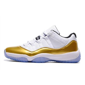 Air Jordan 11 Low Closing Ceremony White/Metallic Gold Coin-Black 528895-103