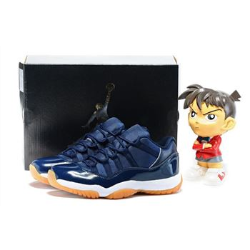 Air Jordan 11 Low Navy Gum Midnight Navy/White-Light Gum Brown 528895-405