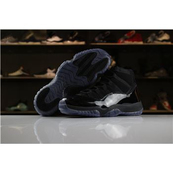 Women's nike lebron grey and light orange background check XI GS Cap and Gown All-Black Colorway