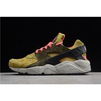 Nike Air Huarache Run Premium Desert Moss/Cobblestone-Cargo Khaki 704830-302