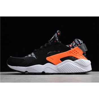 "Nike Air Huarache Run ""Just Do It"" Black/Total Orange-White AT5017-001"