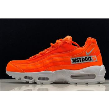 "Nike Air Max 95 ""Just Do It"" Total Orange/White-Black AV6246-800"