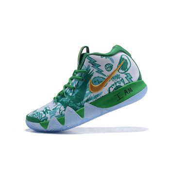 "Nike Kyrie 4 ""Boston Celtics"" Green/White-Metallic Gold"