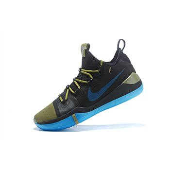 Newest Nike Kobe AD Black/Metallic Gold-Blue