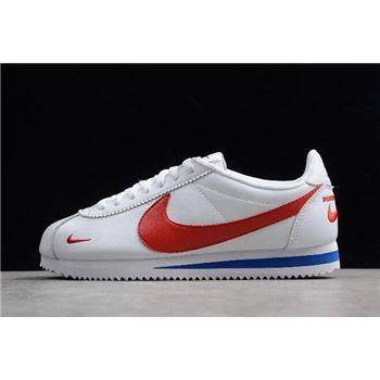 Nike Classic Cortez Premium White/Varsity Red-Varsity Royal 807480-600