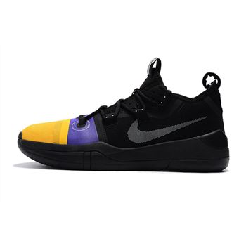 Kobe Bryant Nike Kobe AD Black/Yellow-Purple