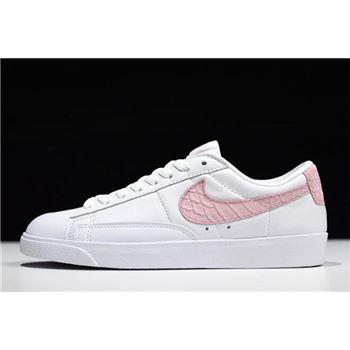 Women's Nike Blazer Low SE PRM White/Pink AA1557-116
