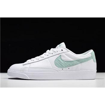 WMNS Nike Blazer Low PRM White/White Jade 454471-113