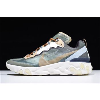 "Undercover x Nike React Element 87 ""Green Mist"" BQ2718-300"