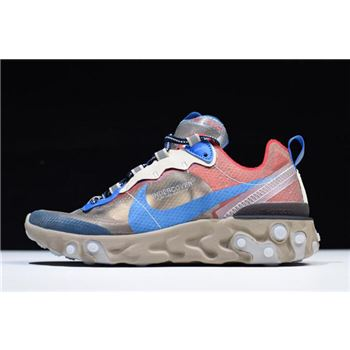 Undercover x nike eclipse ii womens casual shoes Light Beige Chalk/Signal Blue BQ2718-200