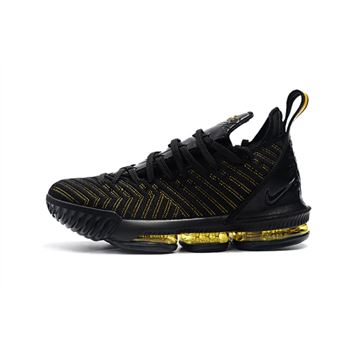 Nike LeBron 16 Black/Metallic Gold Basketball Shoes
