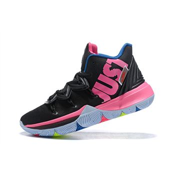 "Nike Kyrie 5 ""Just Do It"" Black/Pink-Blue"