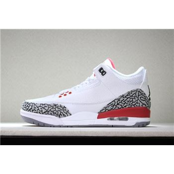 2018 Air Jordan 3 Katrina White/Cement Grey-Black-Fire Red 136064-116