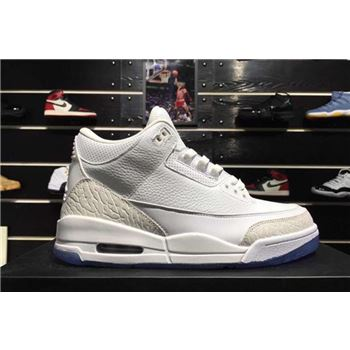 2018 Air Jordan 3 Pure White White/White-White 136064-111 For Sale