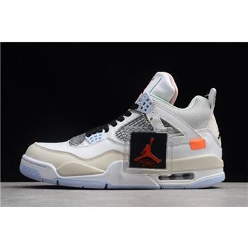 2018 Off-White x Air Jordan 4 Retro Encore Han Yubai/Light Beige/Grey 930115-001 For Sale