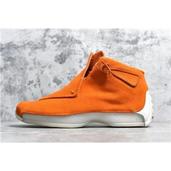 Air Jordan 18 Orange Suede Campfire Orange/Campfire Orange-Sail AA2494-801