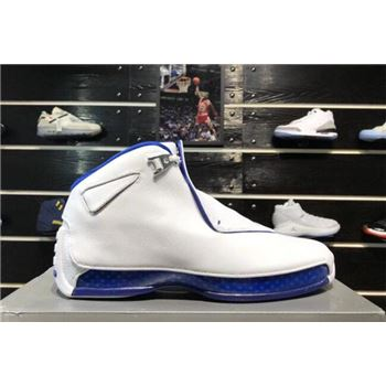 2018 Air Jordan 18 Sport Royal White/Sport Royal-White-Metallic Silver AA2494-106