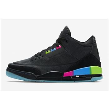 2018 Air Jordan 3 Quai 54 Black/Electric Green-Infrared 23-Black AT9195-001