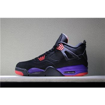 2018 Air Jordan 4 NRG Raptors Black/University Red-Court Purple AQ3816-056
