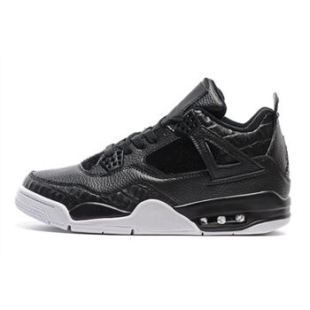 Air Jordan 4 Premium Pinnacle Black Pony Hair Black/Anthracite-Sail 819139-010