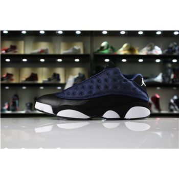 New Air Jordan 13 Low Navy Brave Blue/Metallic Silver-Black Men's Size