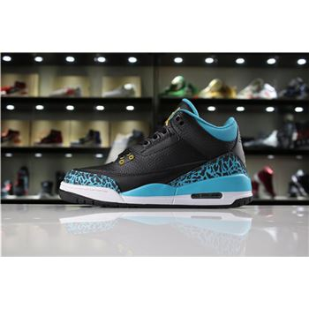 Air Jordan 3 GS Rio Teal Black/Metallic Gold-Rio Teal-White 441140-018