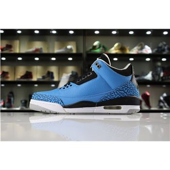 New Air Jordan 3 Retro Powder Blue Dark Powder Blue/Black-Wolf Grey-White 136064-406