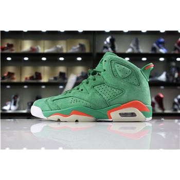 Mens and Womens Air Jordan 6 Gatorade In Green Suede For Sale