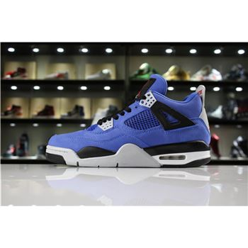 Cheap Eminem x Air Jordan 4 Encore Blue/Black-Grey/Red 314254-704