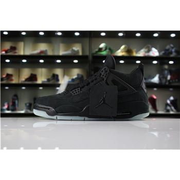 KAWS x Air Jordan 4 Retro Black/Black-Clear Glow 930155-001 Men's Shoes