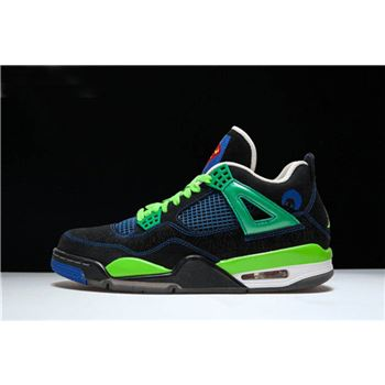New Air Jordan 4 Retro Doernbecher Black/Old Royal-Electric Green-White 308497-015