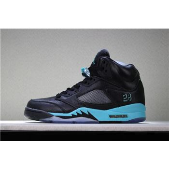 New Air Jordan 5 Black Green Men's Basketball Shoes