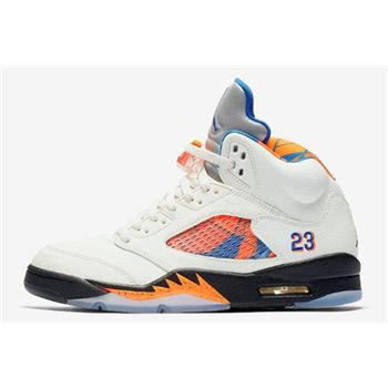 New Air Jordan 5 International Flight Sail/Orange Peel-Black-Hyper Royal 136027-148