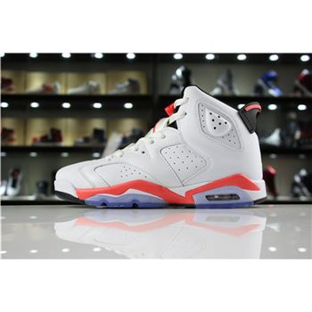 Air Jordan 6 Retro White Infrared White/Infrared-Black 384664-123