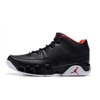 Air Jordan 9 Retro Low Bred Black/Gym Red-White Men's Size 832822-001