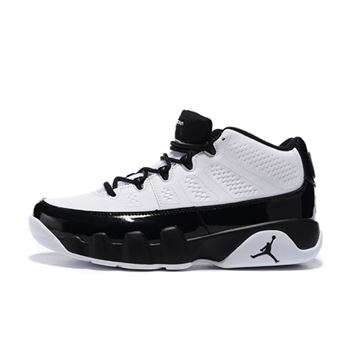 New Air Jordan 9 Retro Low White/Black Men's Basketball Shoes Free Shipping