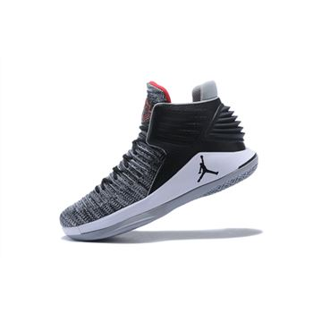 Air Jordan 32 MVP Black/University Red-White-Cement Grey AA1253-002